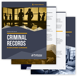 Guide to the Use of Criminal Records in Employment Screening