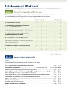 employment screening risk assessment