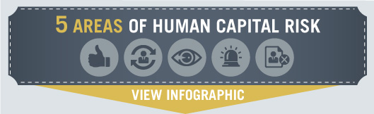 Human capital risk infographic